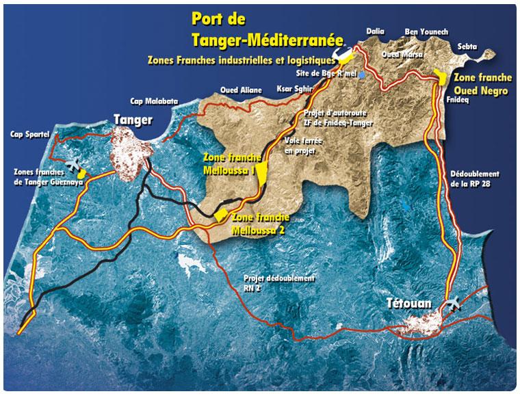 Carte port Tanger med